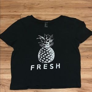Forever 21 Pineapple Crop Top